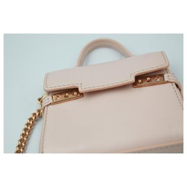 Delvaux-Delvaux nano handbag in baby pink leather.-Pink