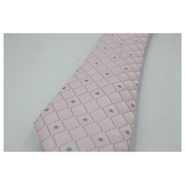 Chanel-Chanel tie in pink silk.-Pink