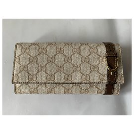 Gucci-Wallets-Light brown
