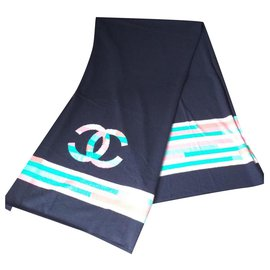 Chanel-Scarves-Navy blue