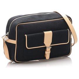 Burberry-Burberry Black Canvas Crossbody Bag-Brown,Black,Beige
