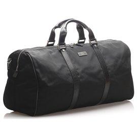 Gucci-Sac de voyage en nylon noir Gucci-Noir