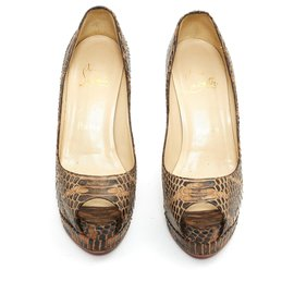 Christian Louboutin-NEW VERY PRIVE FR36.5 NATURAL PYTHON-Other