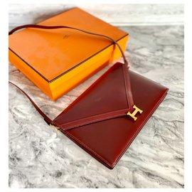 Hermès-Beautiful Lydie Hermès bag-Dark red