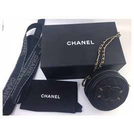 Chanel-Pochette avec chaine Chanel-Noir