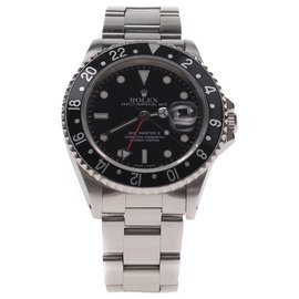 Rolex-Superb Rolex GMT - Master II steel watch in superb condition!-Silvery