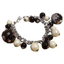 Chanel-Bracelets-Black,Silvery,White