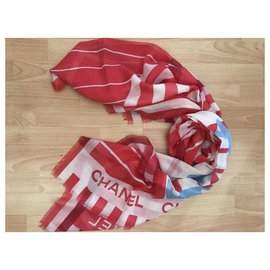 Chanel-STOLE CHANEL CASHMERE-Red