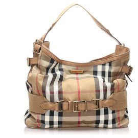 Burberry-Burberry Brown House Check Brecon Shoulder Bag-Brown,Multiple colors,Beige