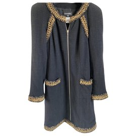 Chanel-Jackets-Black,Golden