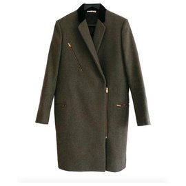 Céline-Resort '11 Crombie Coat-Khaki