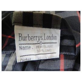 Burberry-Burberry vintage t women's raincoat 38/40-Navy blue