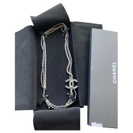 Chanel-Long necklaces-Dark grey