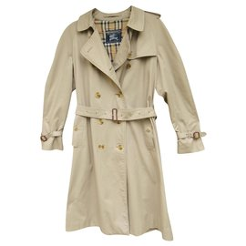 Burberry-womens Burberry vintage t trench coat 44-Beige