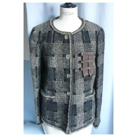 Chanel-CHANEL New Fantasy tweed jacket - T44-Light brown