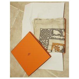Hermès-Hermes Early America-Brown,Beige,Cream