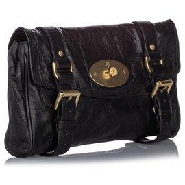 Mulberry-Mulberry Black Alexa Leather Crossbody Bag-Black