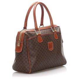 Céline-Celine Brown Macadam Handbag-Brown,Dark brown