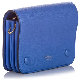 Mulberry-Mulberry Blue Small Clifton Leather Crossbody Bag-Blue