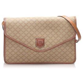Céline-Celine Brown Macadam Crossbody Bag-Brown,Beige,Light brown