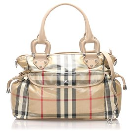 Burberry-Burberry Brown House Check Diaper Bag-Brown,Multiple colors,Dark brown