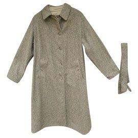 Burberry-reversible coat / raincoat woman Nurberry vintage new condition-Brown,Beige
