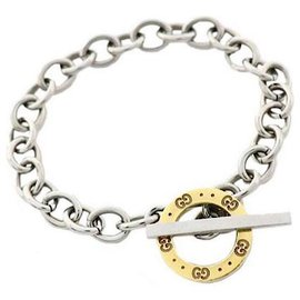 Gucci-Bracelet fermoir GG en argent sterling-Argenté