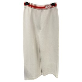 Chanel-Pants, leggings-White,Red