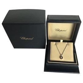 Chopard-Chopard Happy Diamonds 18K White Gold Diamond Necklace-Silvery