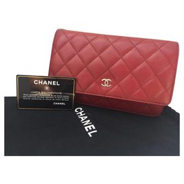 Chanel-Wallet-Red