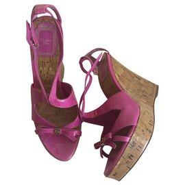 Dior-Des sandales-Fuschia