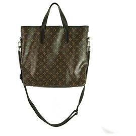 Louis Vuitton-Louis Vuitton Monogram Macassar Davis M56708 Men's Tote Bag Monogram messenger-Brown,Black