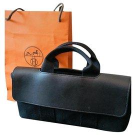 Hermès-Hermes bag Valparaiso model-Navy blue
