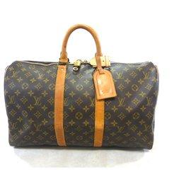 Louis Vuitton-KEEPALL 45 MONOGRAM-Marron