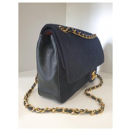 Chanel-Classic jersey-Navy blue