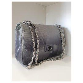 Chanel-Classic python-Blue