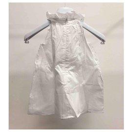 Chloé-Ensemble robe en coton blanc-Blanc