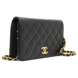 Chanel-CLASSIC WOC BLACK-Black,Golden