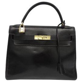 Hermès-HERMES BAG KELLY 28-Black