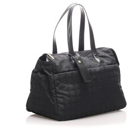 Chanel-Chanel Black New Travel Line Travel Bag-Black