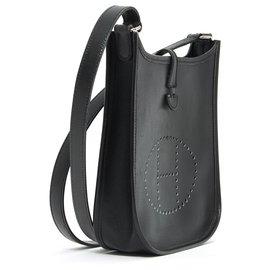 Hermès-EVELYNE MINI TPM BLACK SILVER-Black,Silvery