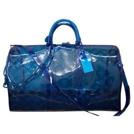 Louis Vuitton-Sac de voyage-Bleu