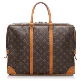 Louis Vuitton-Louis Vuitton Porte Monogramme Marron Marron-Documents Voyage-Marron