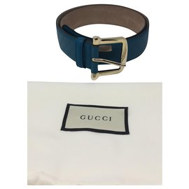 Gucci-Monogram classic belt-Light blue