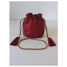 Chanel-Chanel purse bag-Red