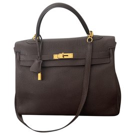 Hermès-Kelly 32-Dark brown