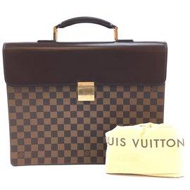 Louis Vuitton-Louis Vuitton Porte-documents Altona Damier Ébène Toile-Marron
