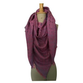 Louis Vuitton-Monogram shawl-Fuschia