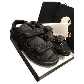Chanel-Spartan Dad sandals-Dark grey