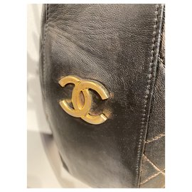Chanel-Handbags-Dark brown